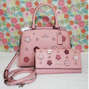Coach Lillie satchel + wallet  DAISY APPLIQUE bag